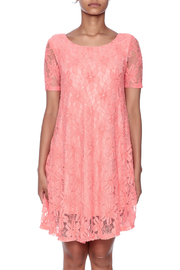 Lollipop Star Coral Lace Dress - Side cropped