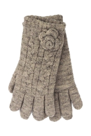 Lolly Ella Bloom Beige Gloves - Front cropped