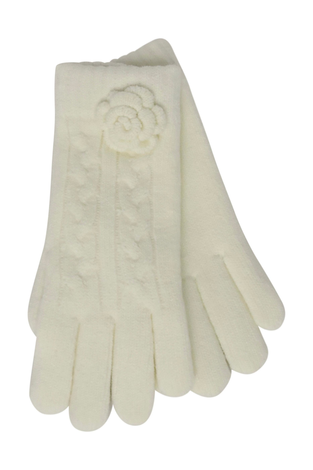 Lolly Ella Bloom Cream Gloves - Front Cropped Image