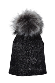 Lolly Ella Chelsea Black Pom-Hat - Front cropped