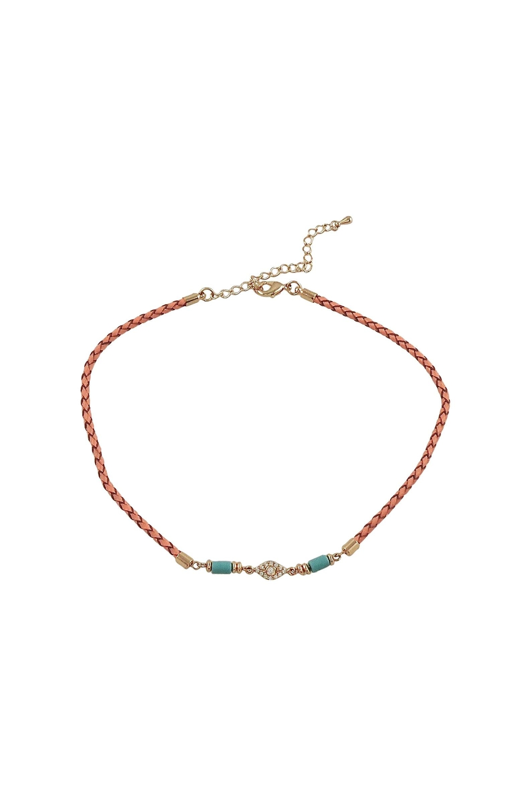 Lolly Ella Elin Coral Choker - Front Cropped Image