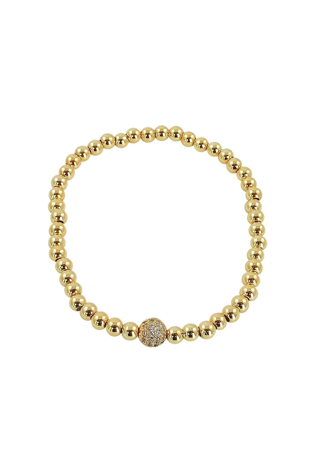 Lolly Ella Gold Pave' Bead - Main Image