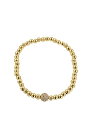 Lolly Ella Gold Pave' Bead - Product Mini Image