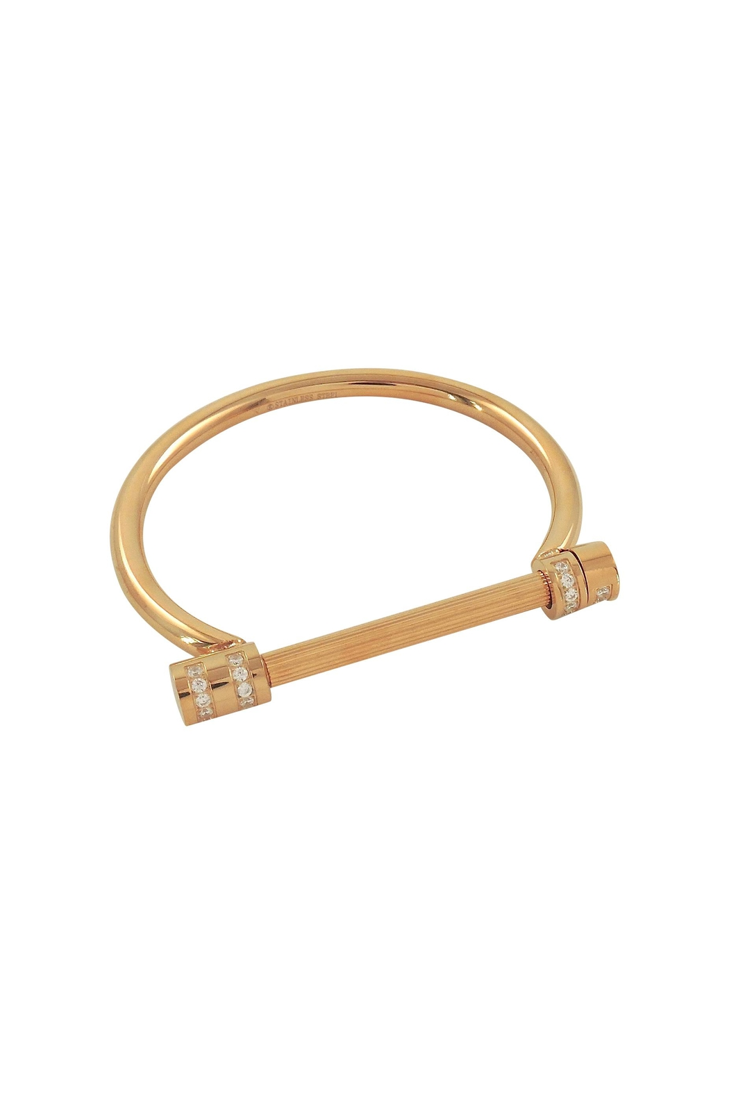 Lolly Ella Gold Screw Cuff - Front Cropped Image