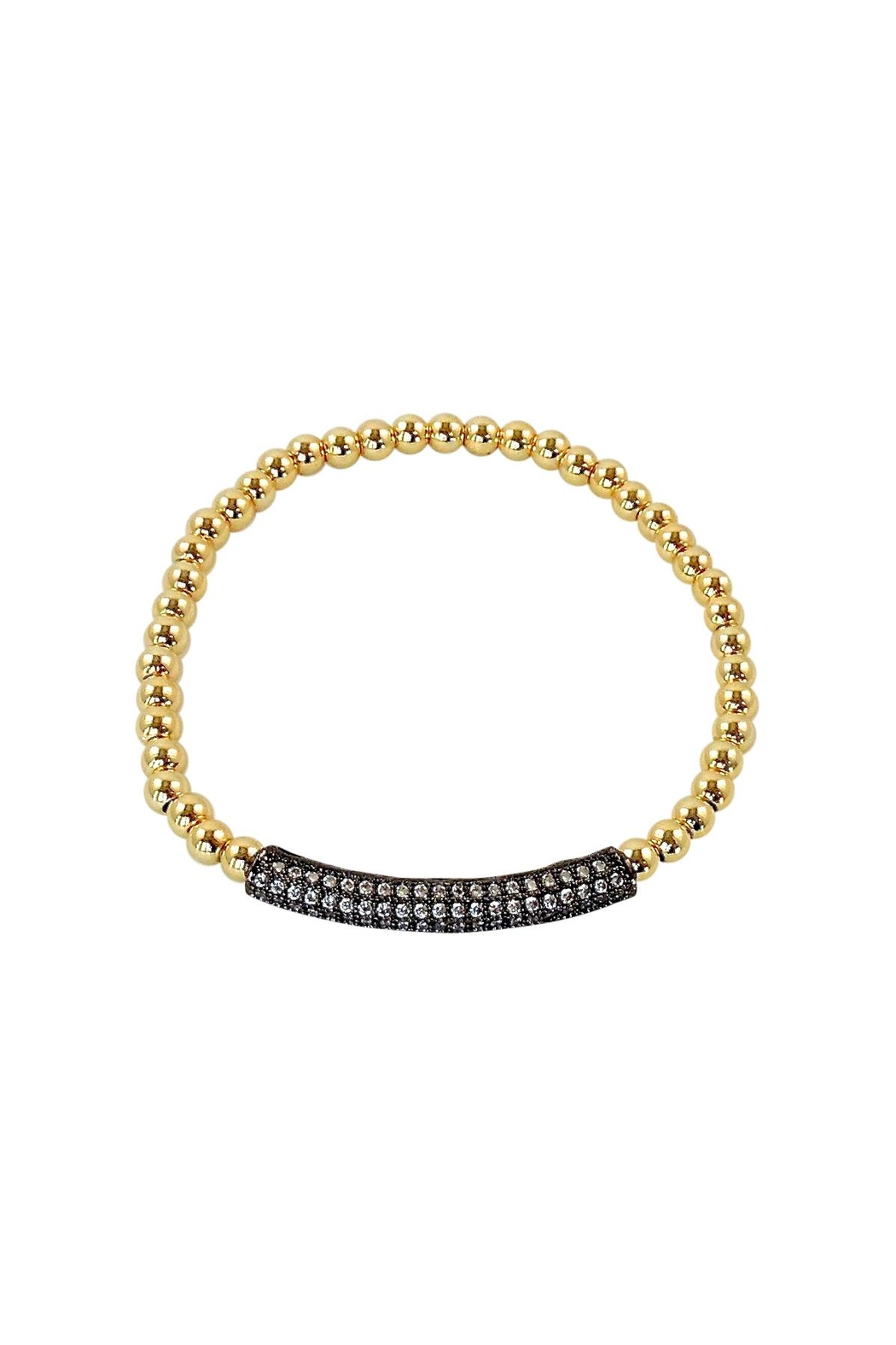 Lolly Ella Gunmetal Gold Pave' - Main Image