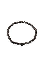Lolly Ella Gunmetal Pave' Bead - Front cropped
