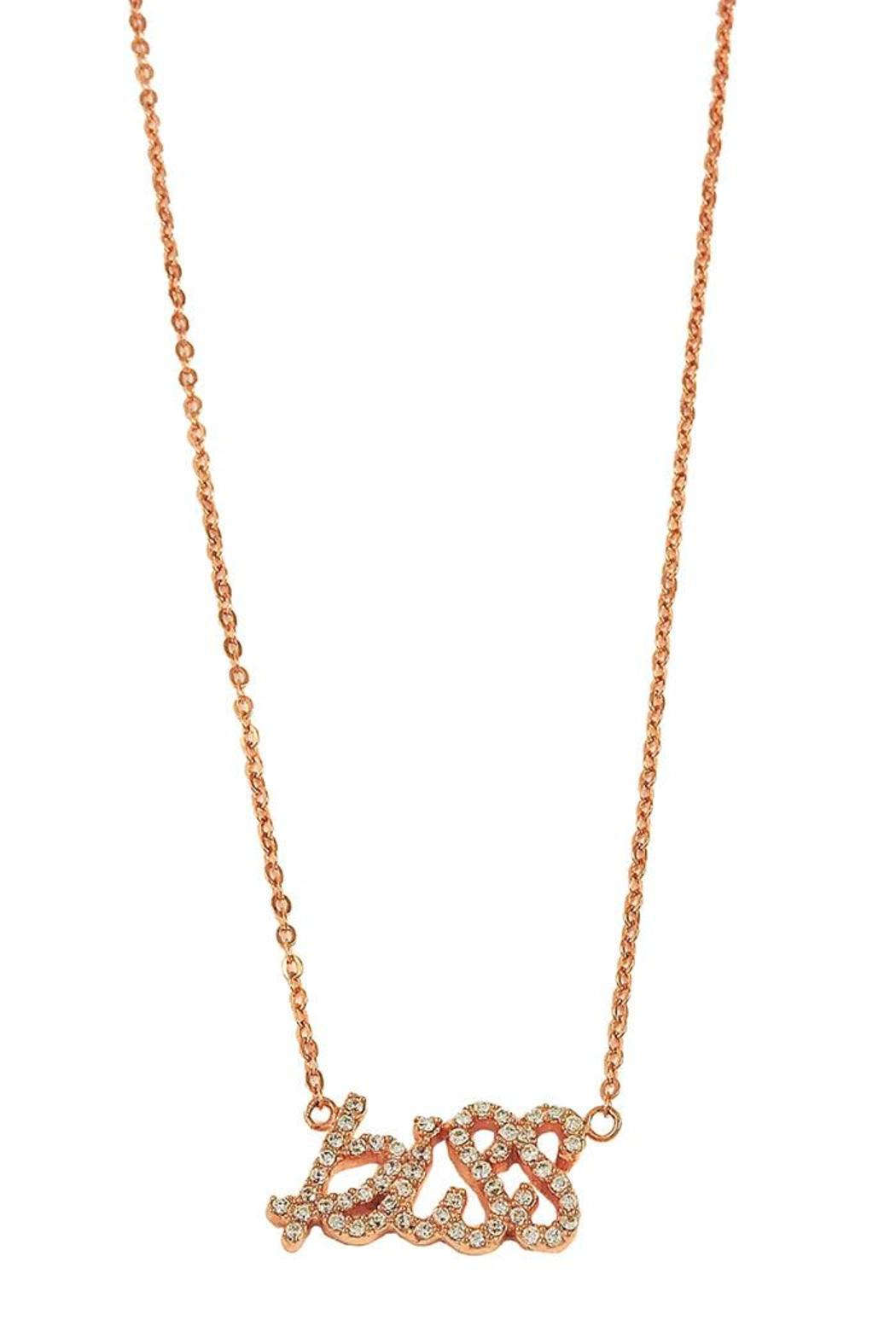 Lolly Ella Kiss Necklace - Front Full Image