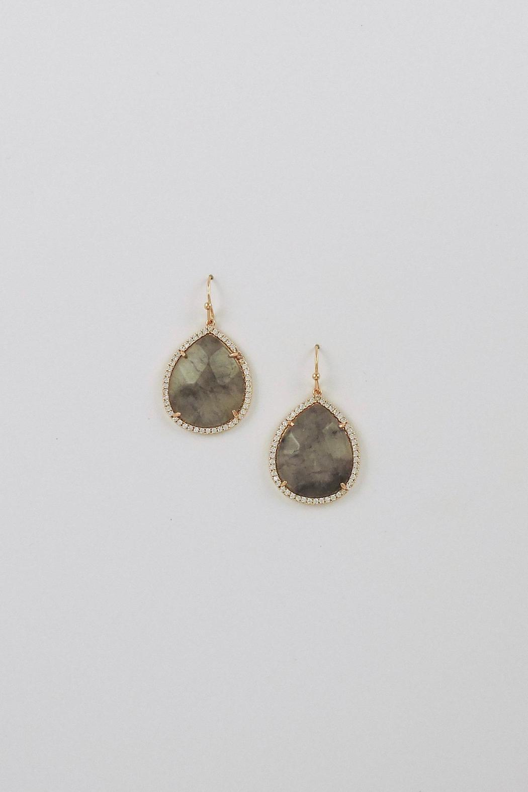 Lolly Ella Marvella Grey Earrings - Front Cropped Image
