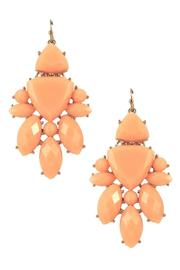 Lolly Ella Peach Burst Earrings - Product Mini Image