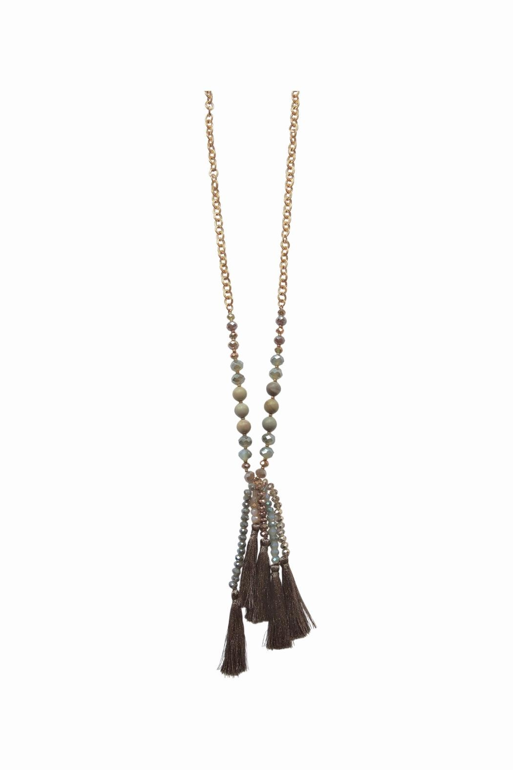Lolly Ella Quinn Bronze Tassel Necklace - Front Cropped Image