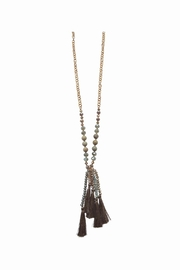 Lolly Ella Quinn Bronze Tassel Necklace - Front cropped