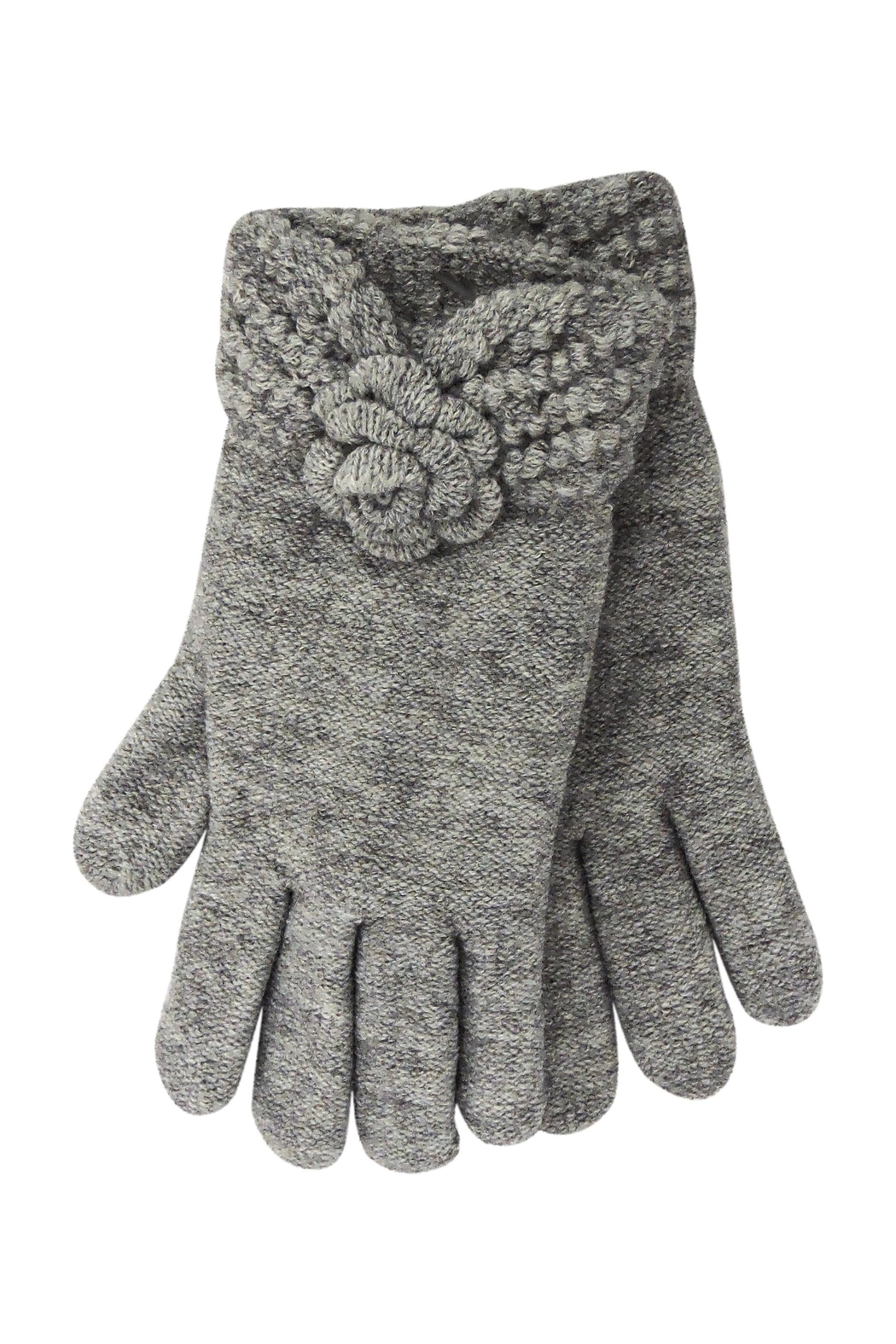 Lolly Ella Rose Grey Gloves - Front Cropped Image