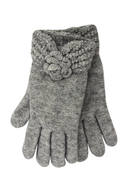 Lolly Ella Rose Grey Gloves - Front cropped