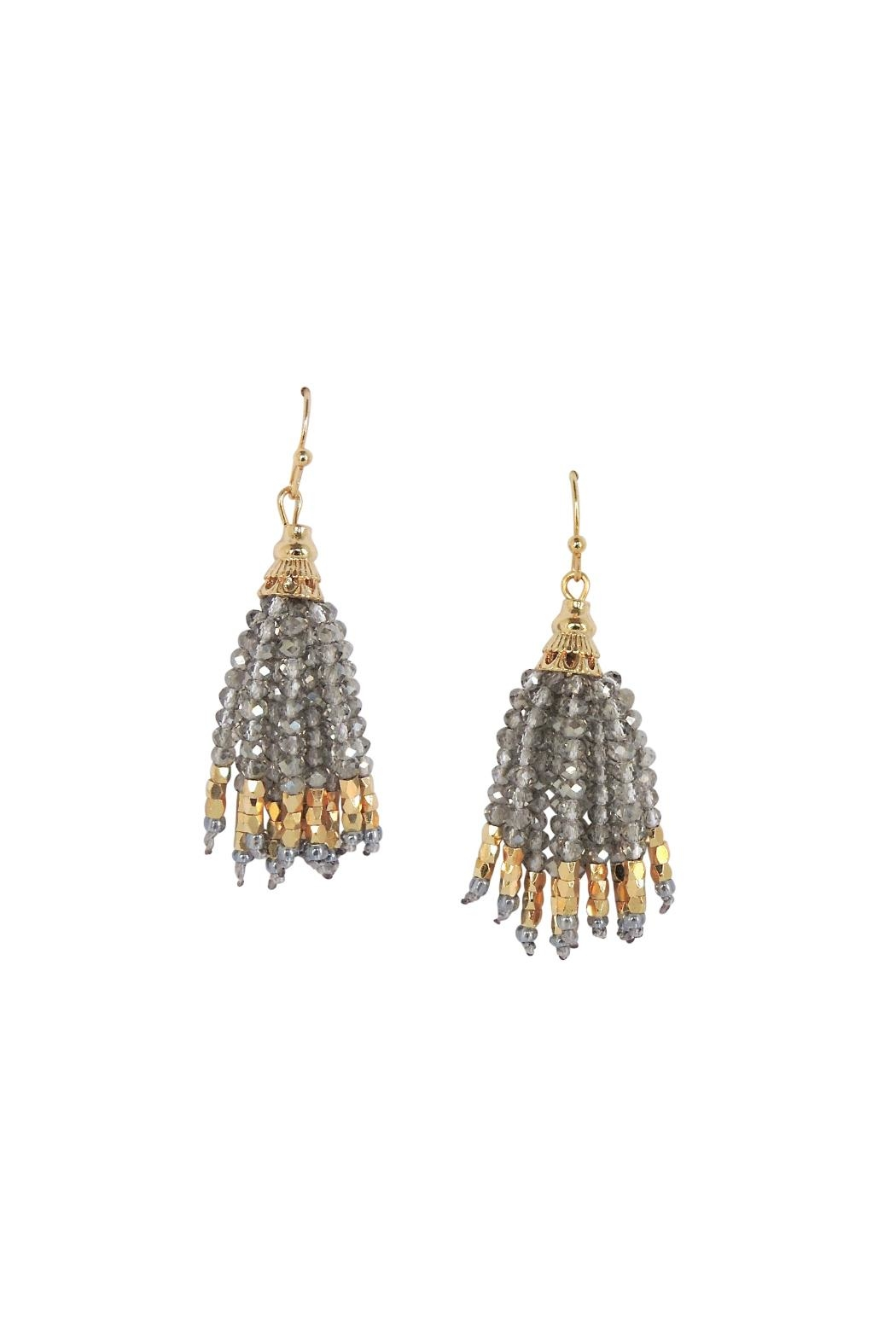 Lolly Ella Tala Grey Earrings - Main Image