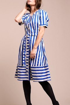 LOLLYS LAUNDRY Blue Striped Dress - Product List Image