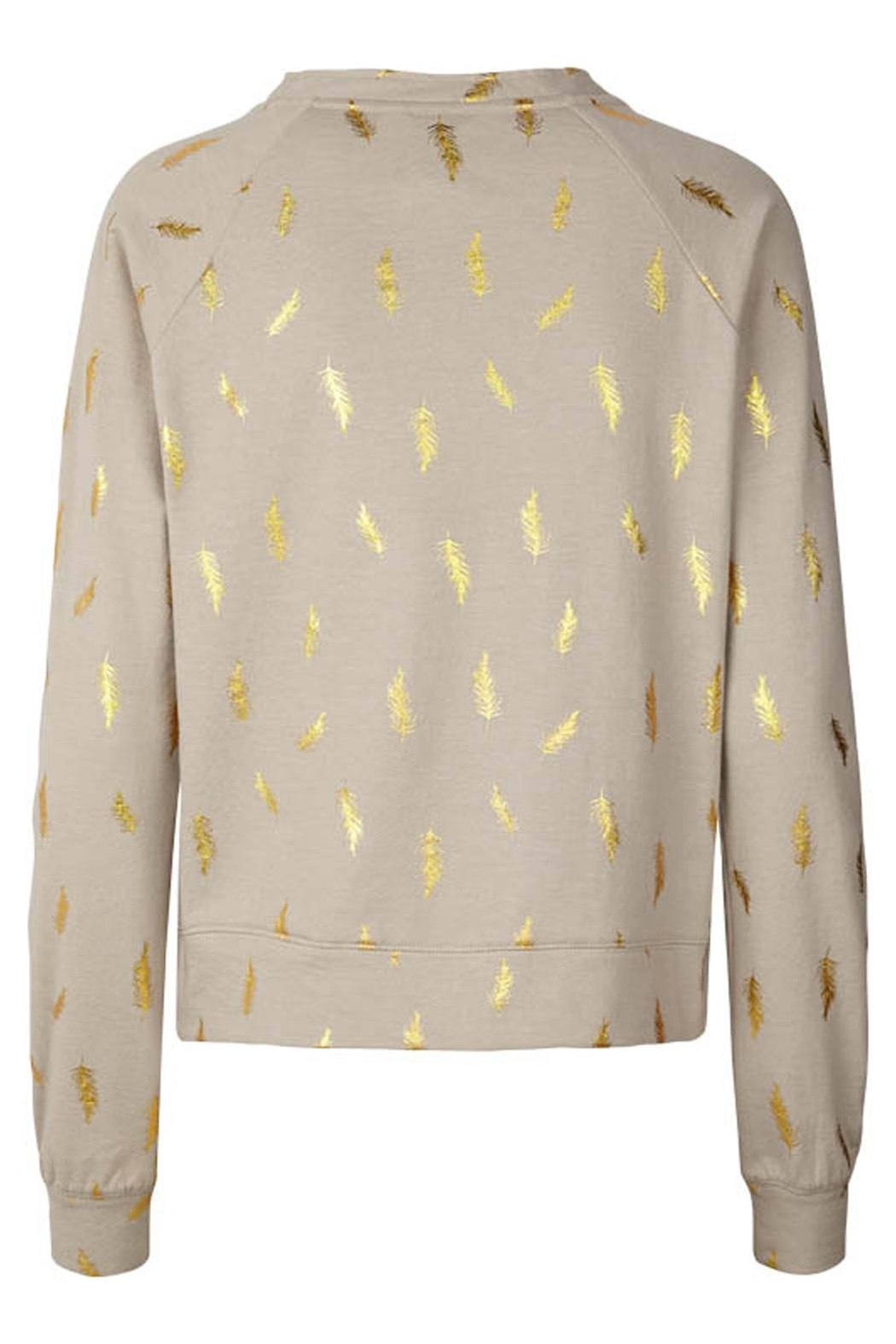 LOLLYS LAUNDRY Gold Featherd Sweatshirt - Front Full Image