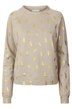 Shoptiques Product: Gold Featherd Sweatshirt