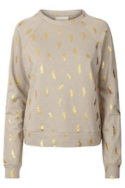 LOLLYS LAUNDRY Gold Featherd Sweatshirt - Product Mini Image