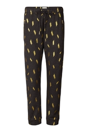 LOLLYS LAUNDRY Gold Feathered Sweatpants - Product Mini Image