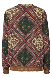 LOLLYS LAUNDRY Grafic Print Blouse - Back cropped