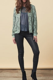 LOLLYS LAUNDRY Lace Covered Jacket - Front cropped