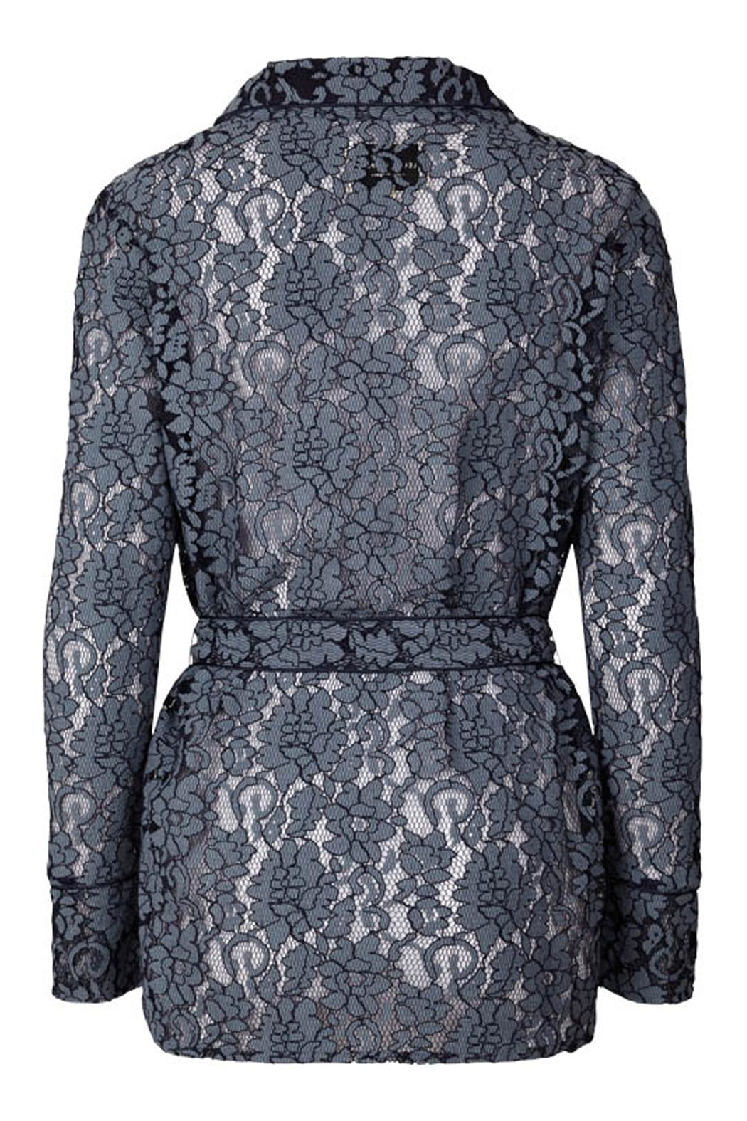 LOLLYS LAUNDRY Blue Lace Jacket - Front Full Image
