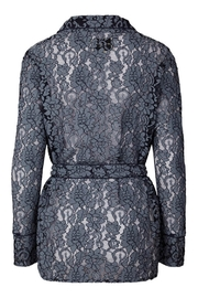 LOLLYS LAUNDRY Blue Lace Jacket - Front full body
