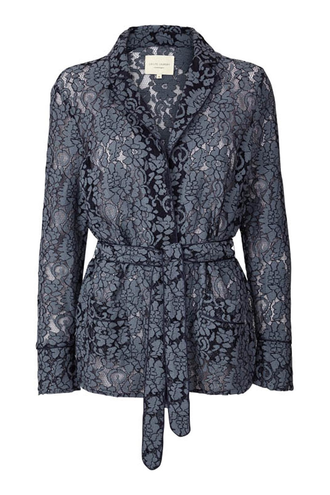LOLLYS LAUNDRY Blue Lace Jacket - Main Image