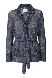 LOLLYS LAUNDRY Blue Lace Jacket - Front cropped