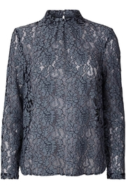 LOLLYS LAUNDRY Blue Lace Top - Product Mini Image