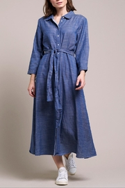 LOLLYS LAUNDRY Long Denim-Look Dress - Product Mini Image