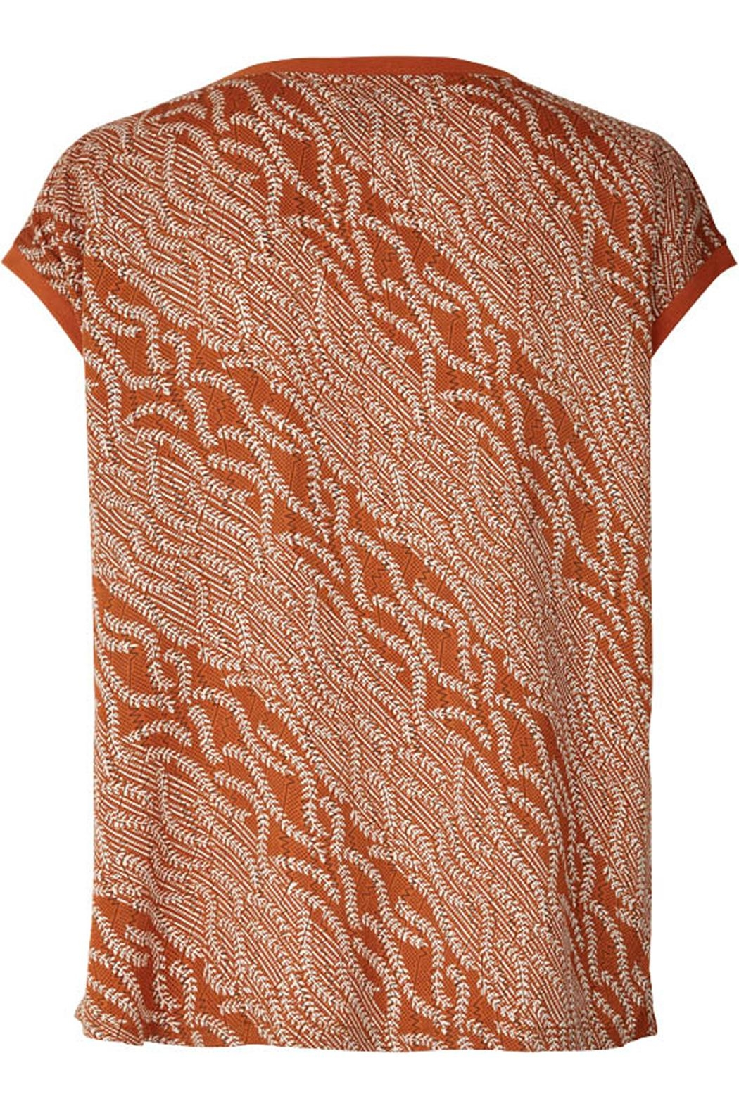 LOLLYS LAUNDRY Rust Colored Top - Front Full Image