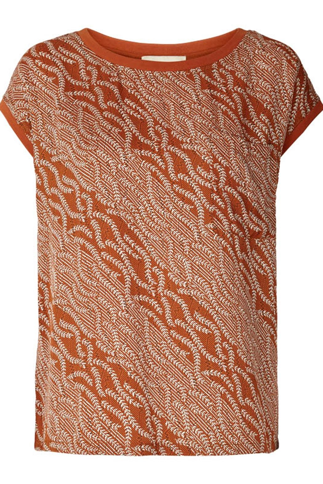 LOLLYS LAUNDRY Rust Colored Top - Main Image