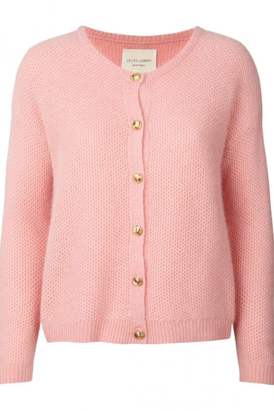 LOLLYS LAUNDRY Soft Pink Cardigan - Front Full Image