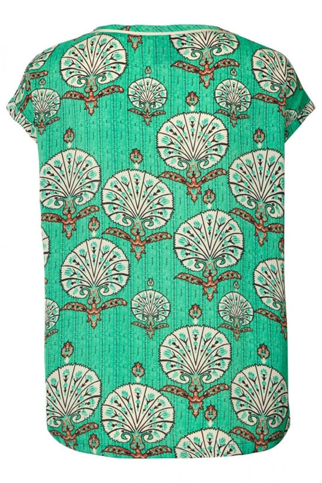 LOLLYS LAUNDRY Stunning Green Top - Front Full Image