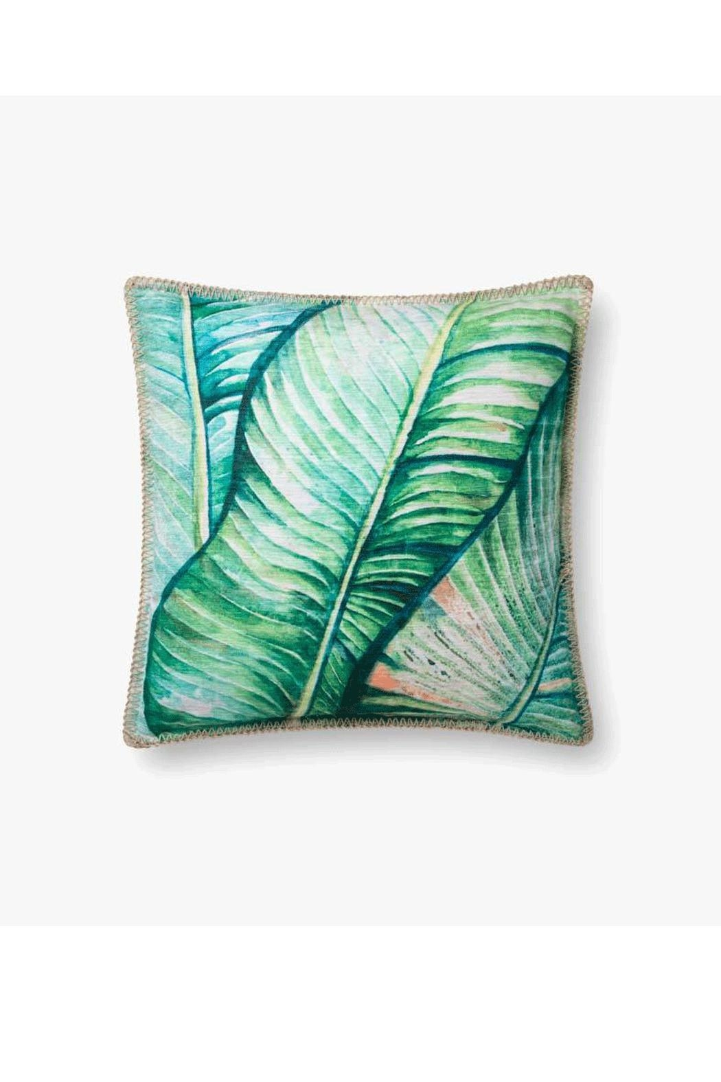 Loloi Banana Leaf Pillow - Front Cropped Image