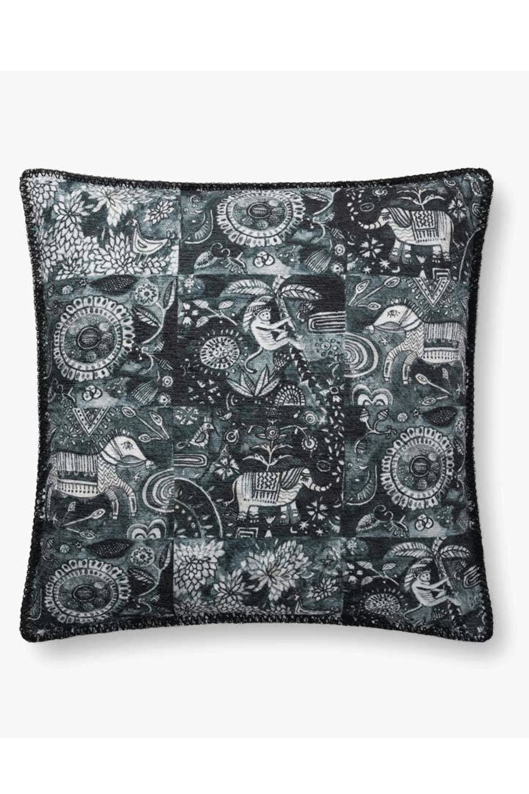 Loloi Charcoal Animal Pillow - Main Image