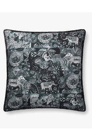 Loloi Charcoal Animal Pillow - Front cropped