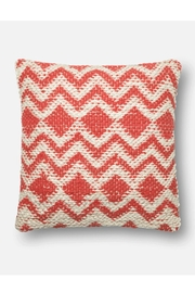 Loloi Coral Zig-Zag Pillow - Product Mini Image