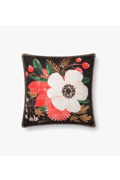 Loloi Dark Floral Pillow - Product List Image