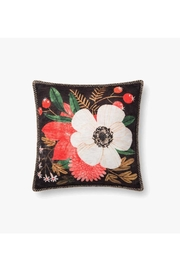 Loloi Dark Floral Pillow - Product Mini Image