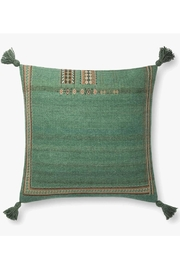 Loloi Green Tassel Pillow - Front cropped