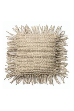 Shoptiques Product: Grey Fringe Pillow