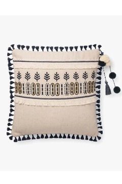 Loloi Ivory/charcoal Tassel Pillow - Product List Image