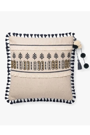 Loloi Ivory/charcoal Tassel Pillow - Front cropped