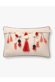 Loloi Ivory/coral Tassel Pillow - Product Mini Image