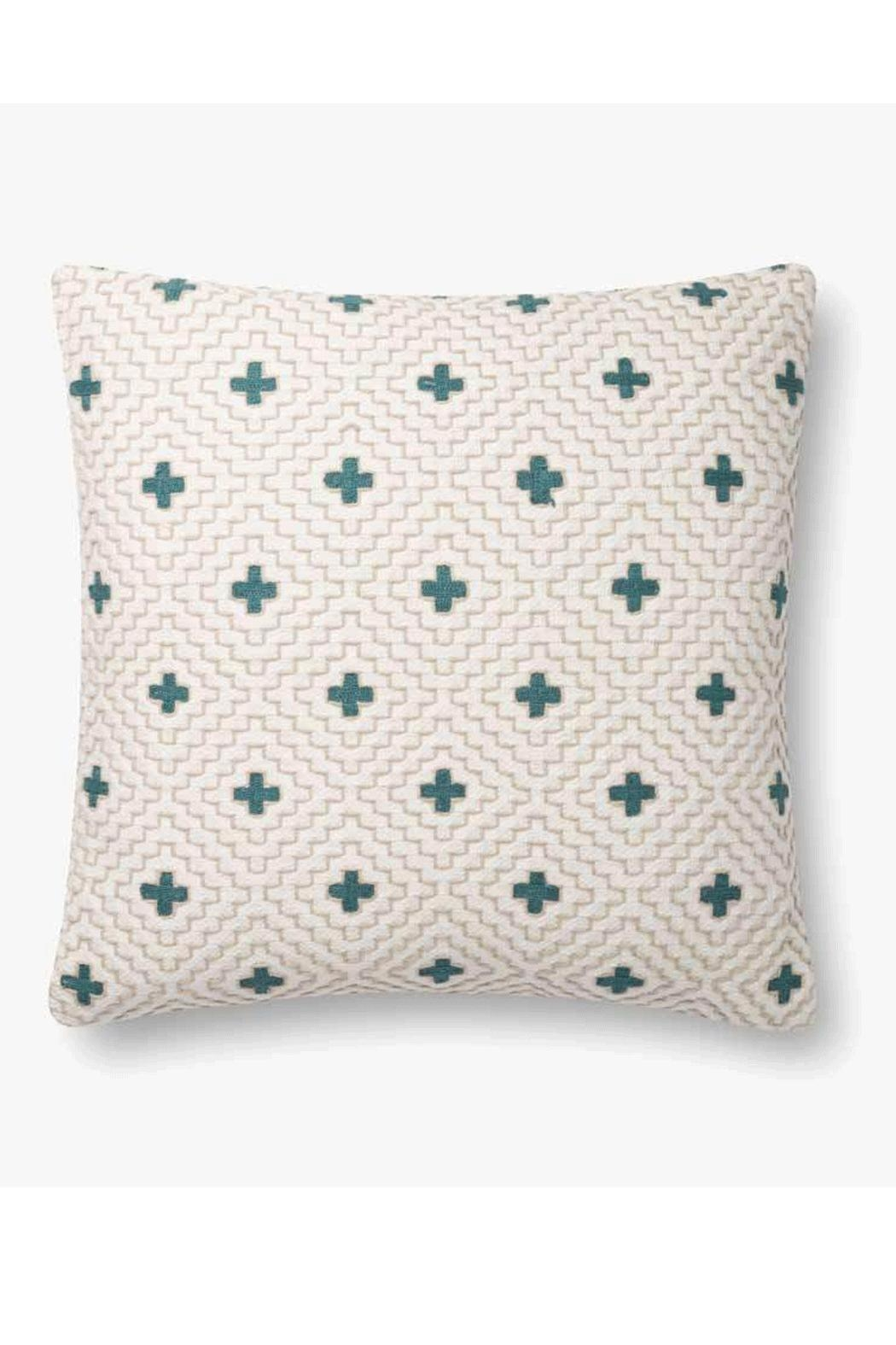 Loloi Ivory/green Pillow - Main Image
