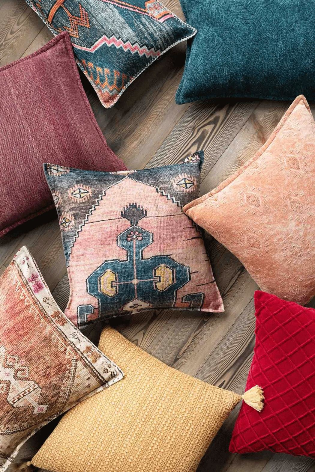 Loloi Multicolor Boho Pillow - Front Full Image