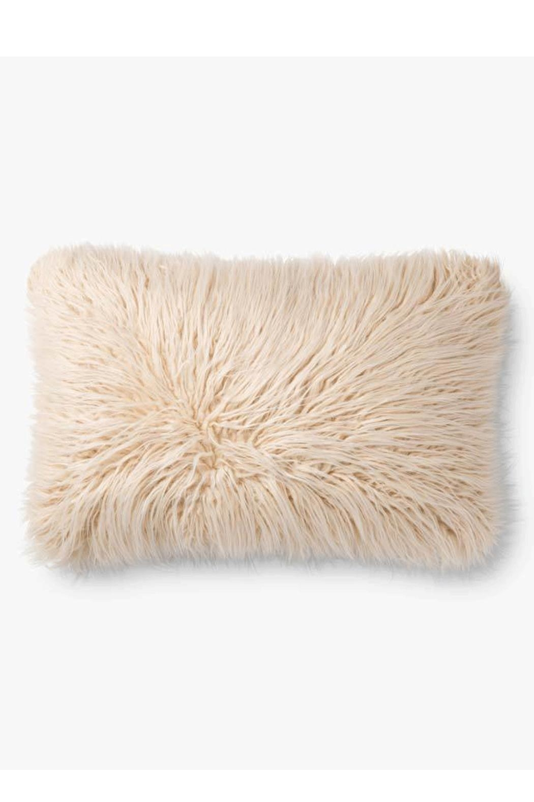 Loloi Multicolor Fur Pillow - Front Full Image