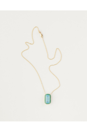Cynthia Rowley London Blue Topaz with Green Crystal Pendant - Product Mini Image